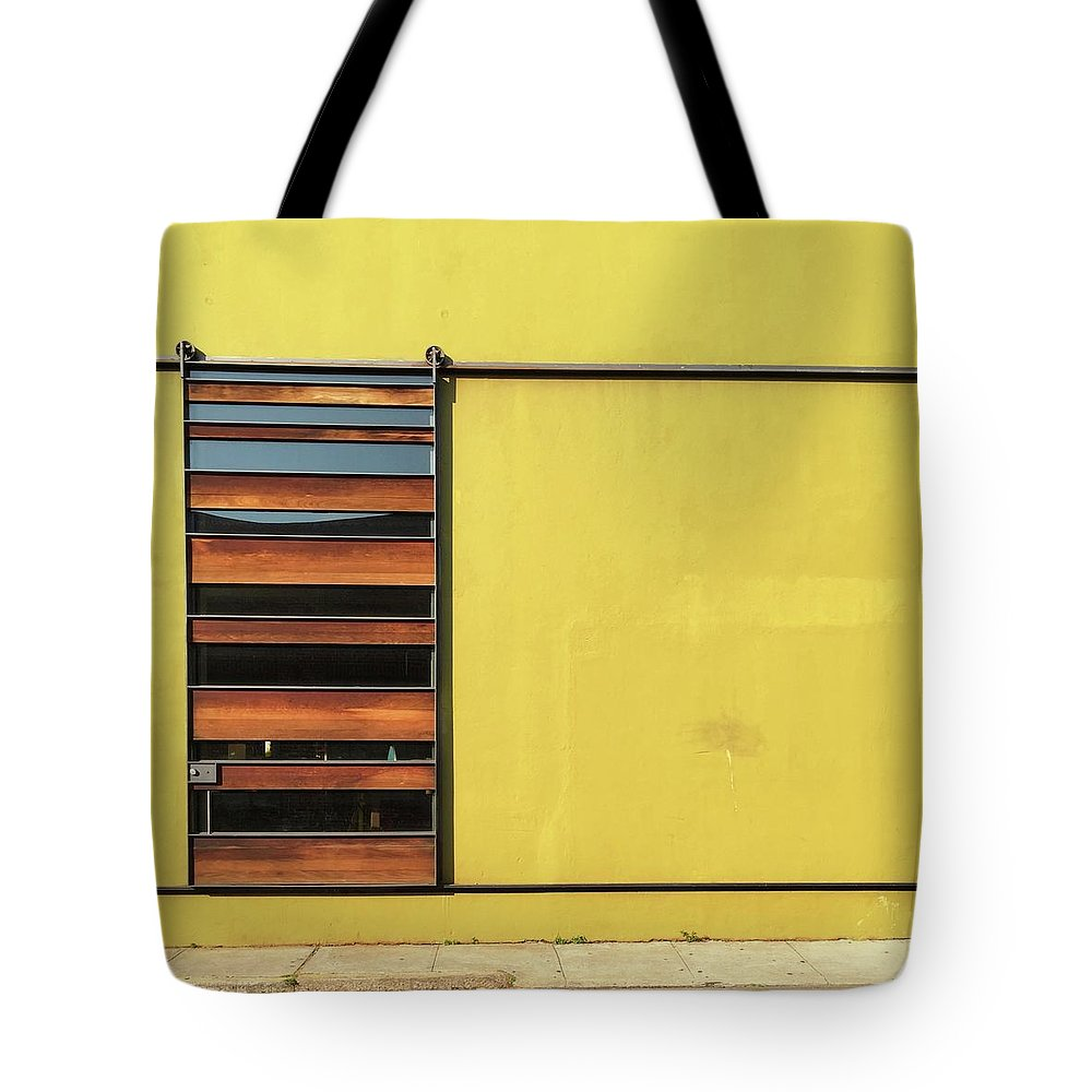 Tote Bag featuring the photograph Mustard Wall by Julie Gebhardt