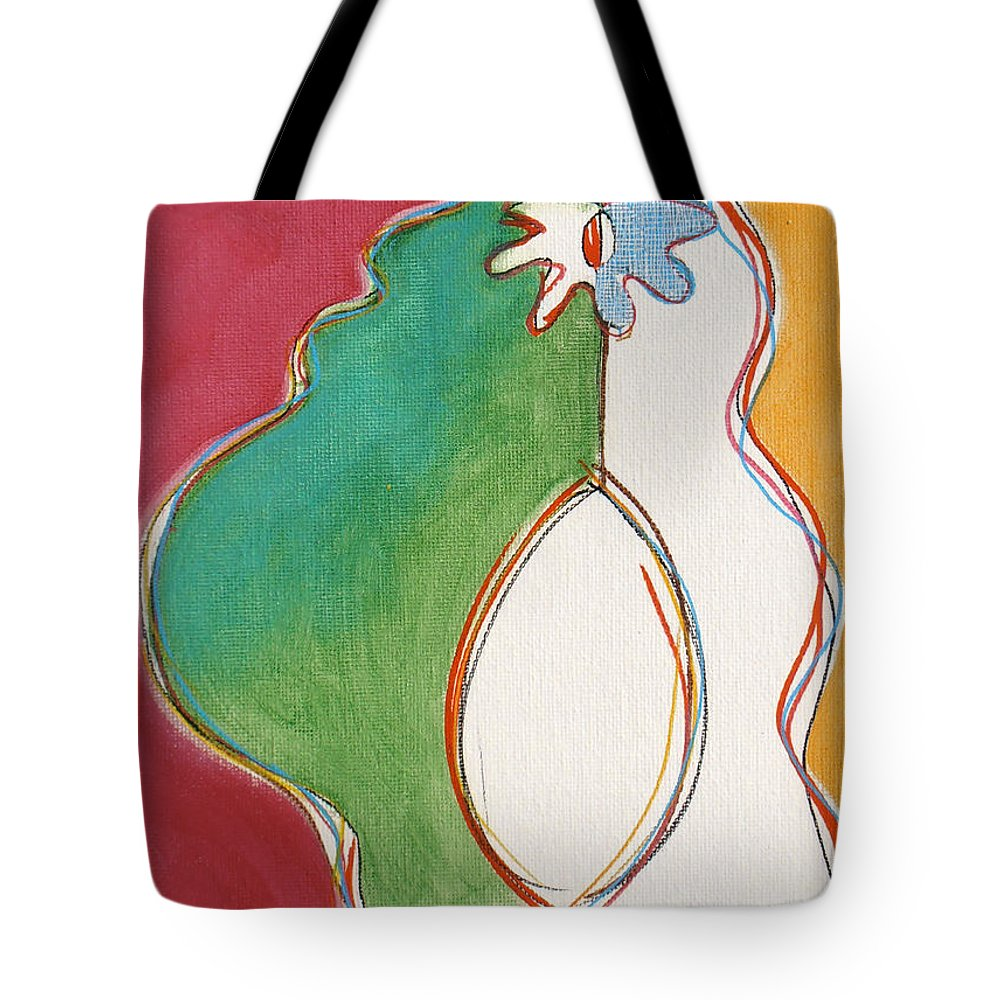 Avocado Tote Bag featuring the painting Mutant Avocado 3 by Stan Magnan