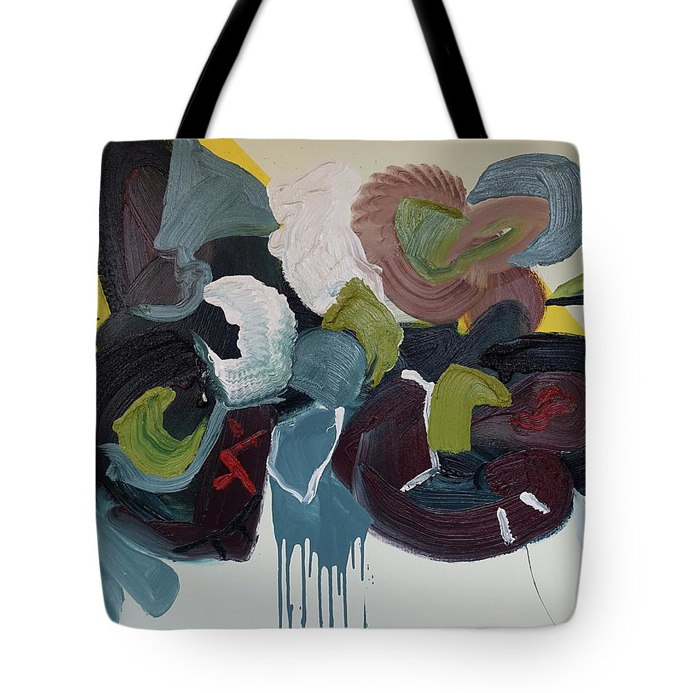Abstract Tote Bag featuring the painting Mute Speed by Peregrine Roskilly