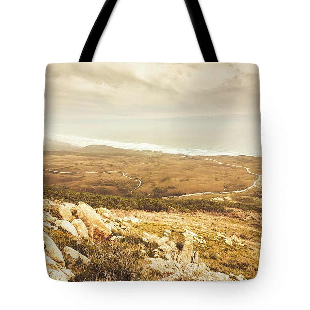 Coast Tote Bag featuring the photograph Muted Mountain Views by Jorgo Photography - Wall Art Gallery