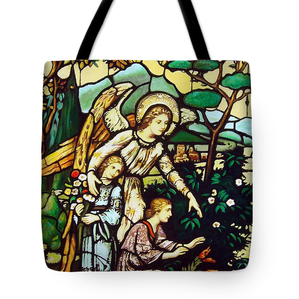 Tote Bag featuring the painting My Angel by Jose Manuel Abraham