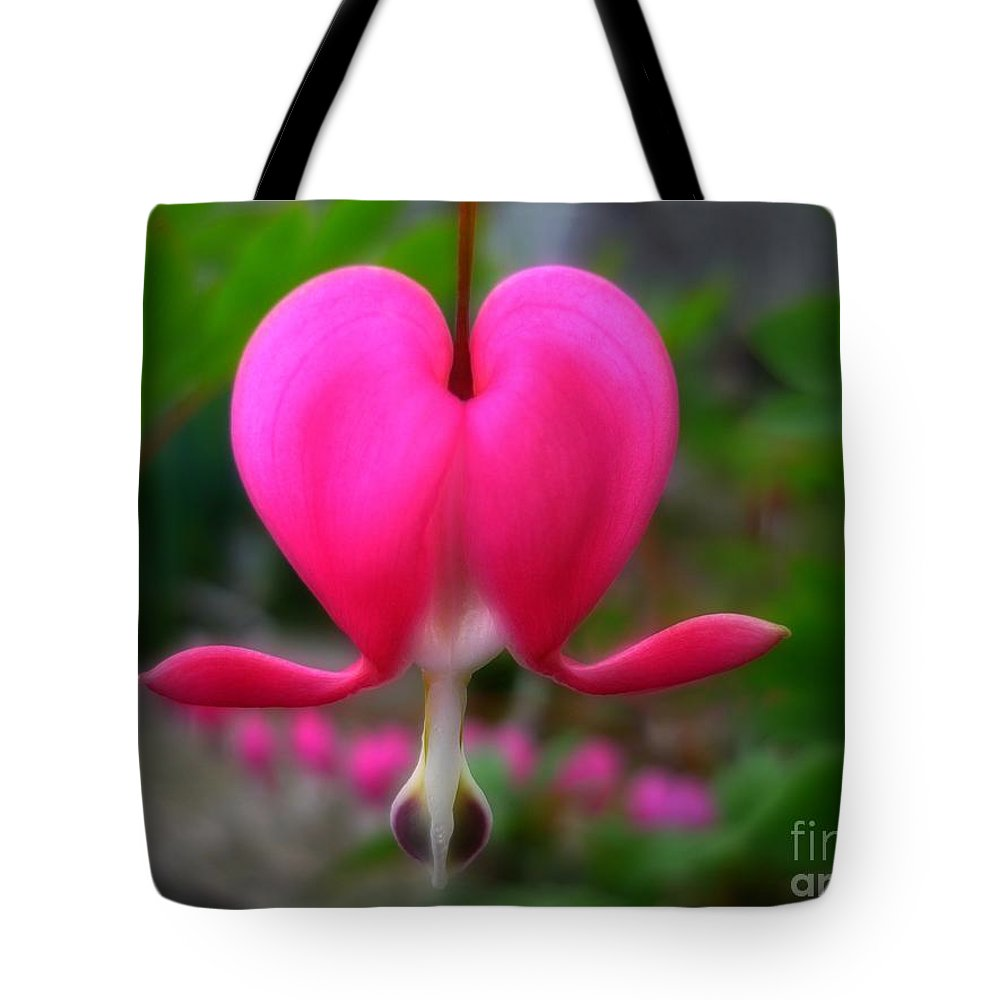 Bleeding Heart Tote Bag featuring the photograph My Bleeding Heart by Jeff Breiman