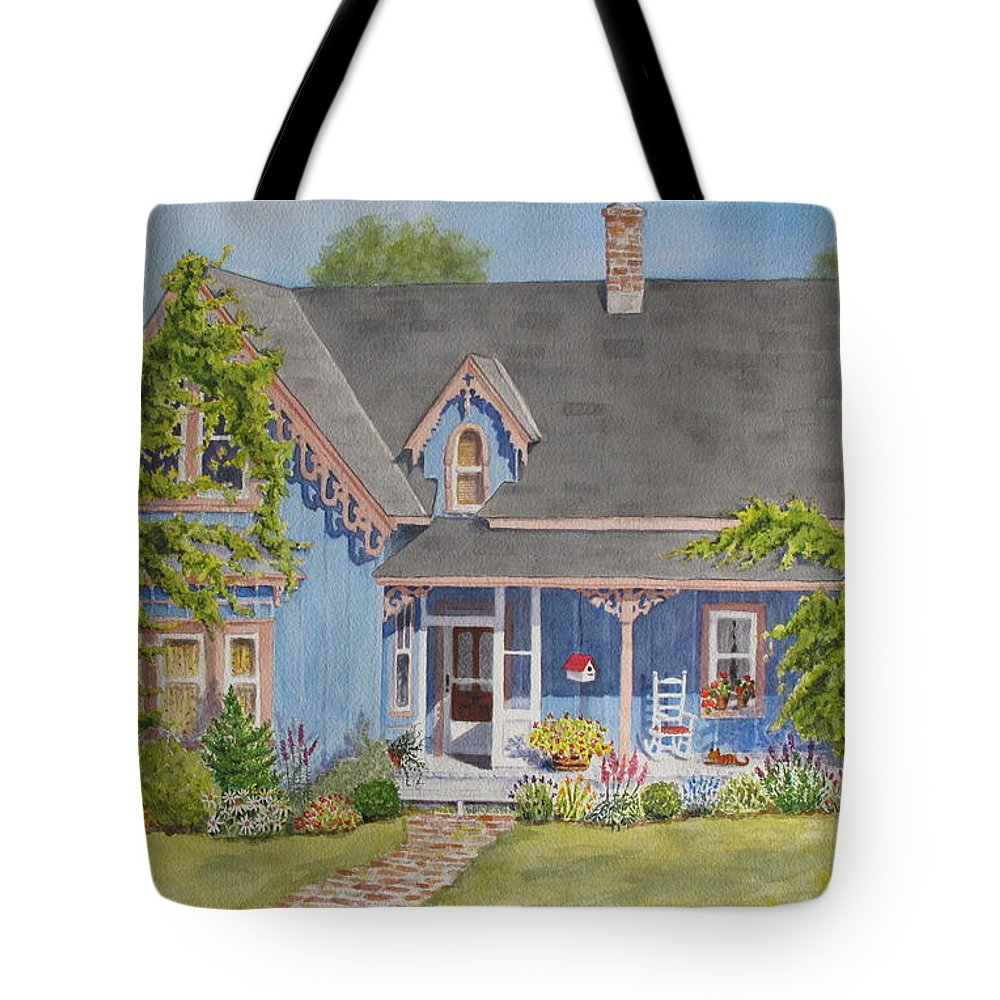 House Tote Bag featuring the painting My Blue Heaven by Mary Ellen Mueller Legault