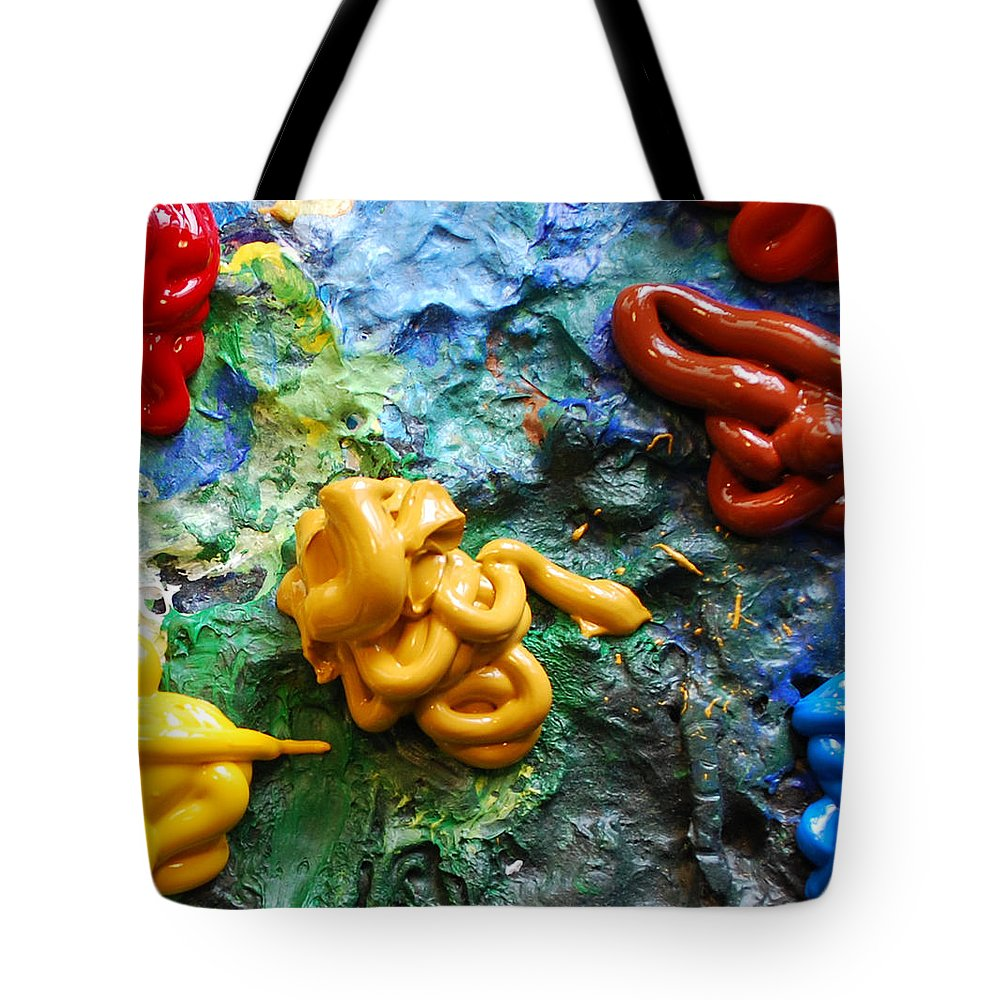 Palette Tote Bag featuring the photograph My Colorful Palette by Nancy Mueller