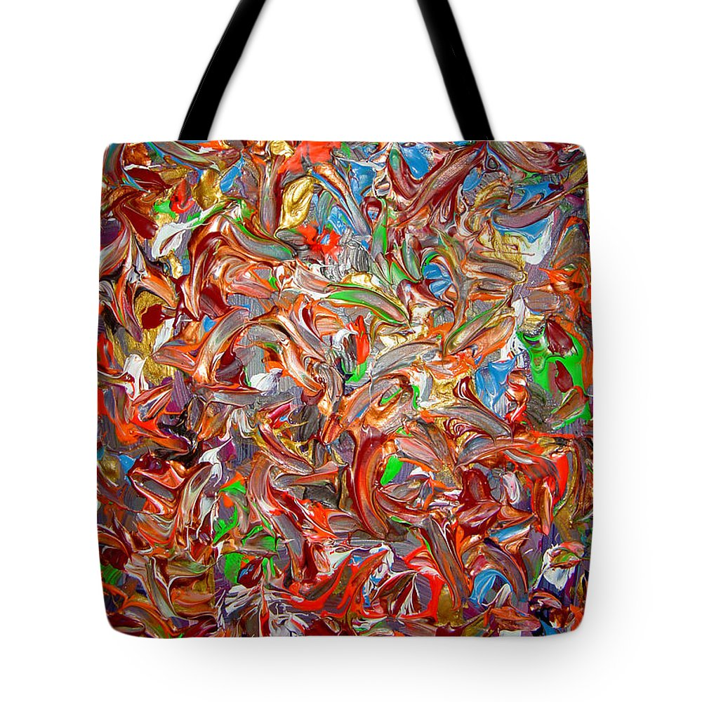 Psychedelic Tote Bag featuring the painting My Colors Connection by Safak Tulga