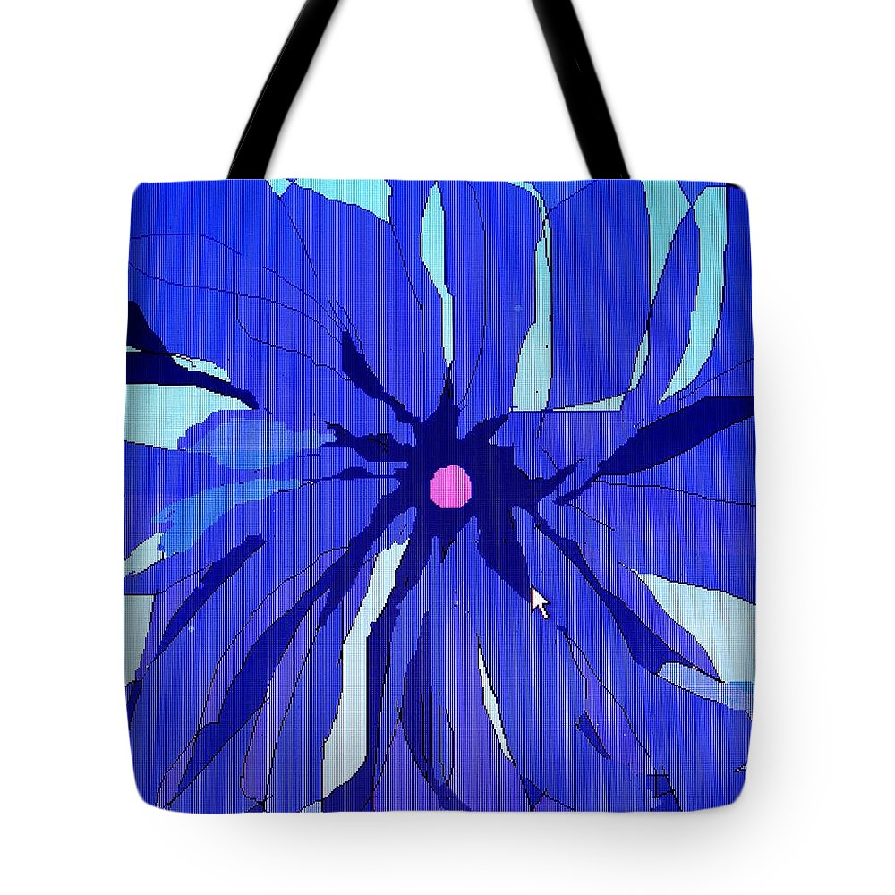 Flower Tote Bag featuring the digital art My Fantastic Flower by Ian MacDonald