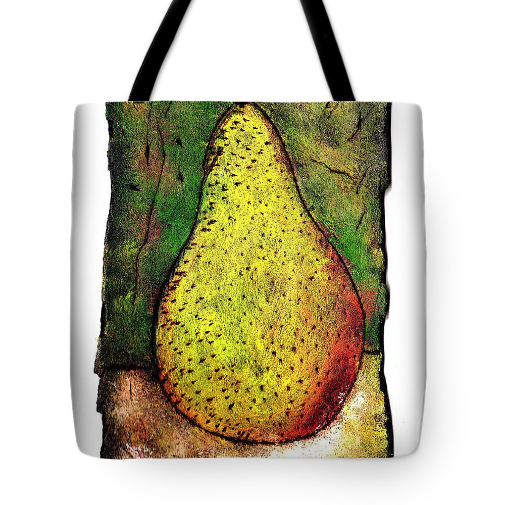 Pear Tote Bag featuring the painting My Favorite Pear One by Wayne Potrafka