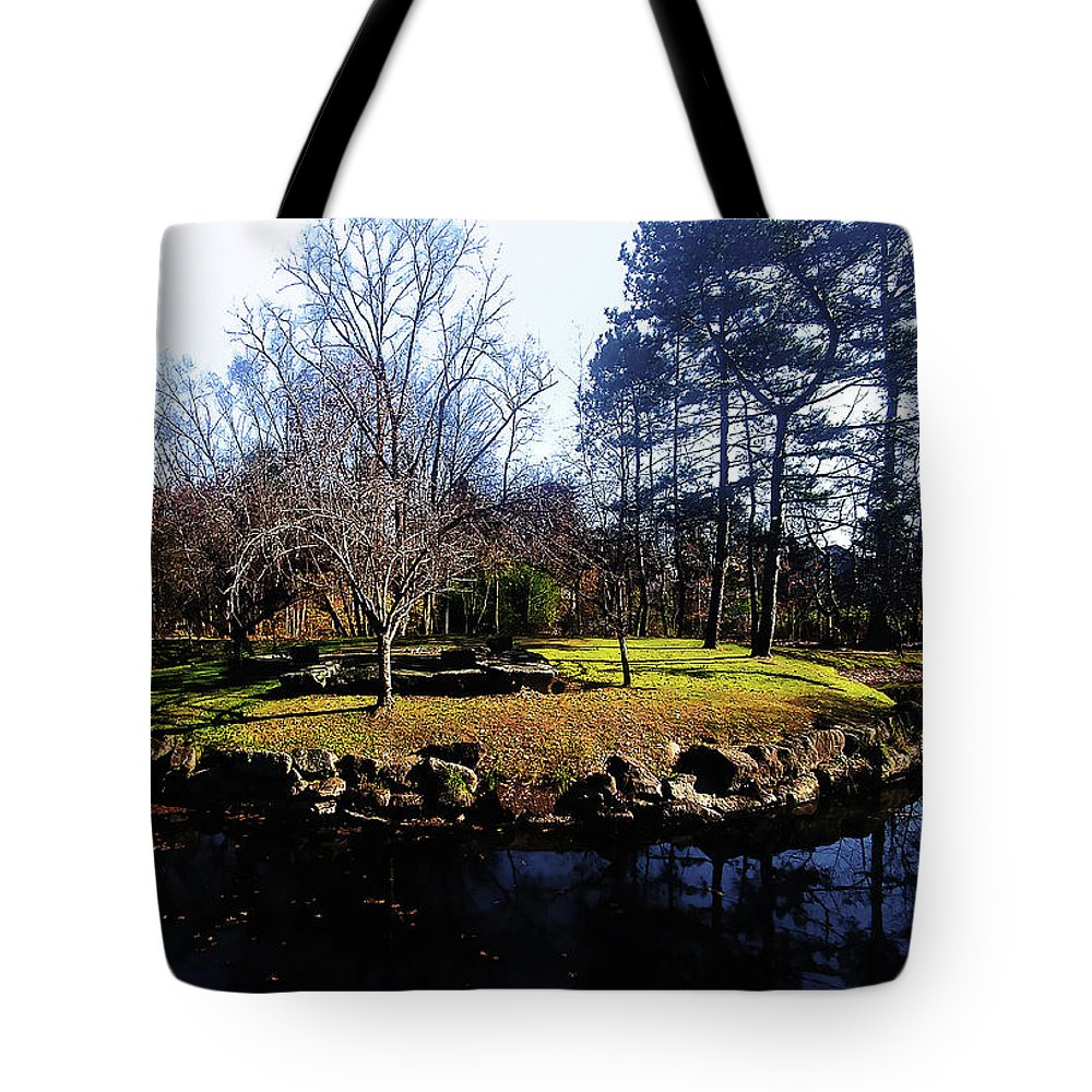 Late Autumn Tote Bag featuring the photograph My Favorite Pond by Roger Bester