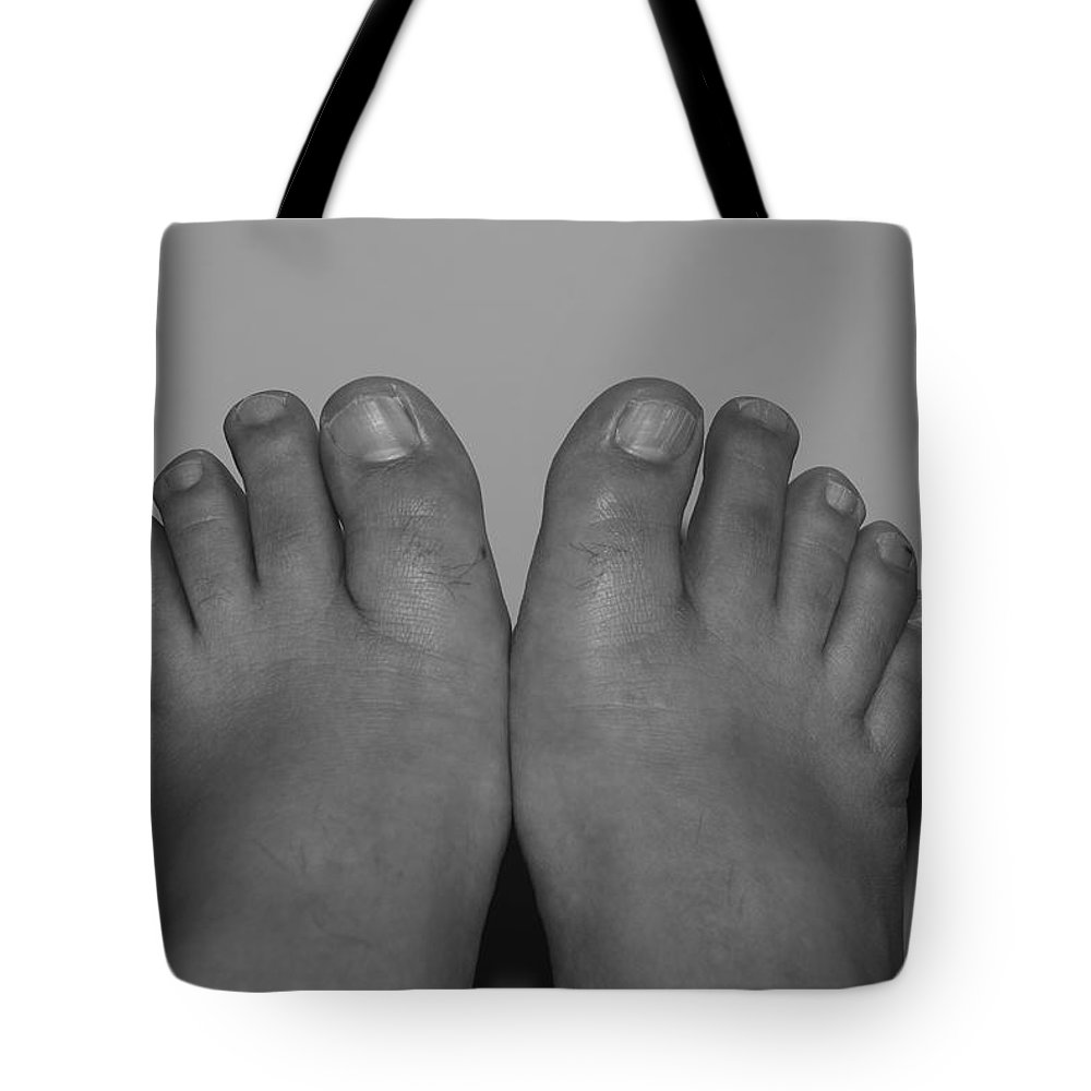 Pop Art Tote Bag featuring the photograph My Feet By Hans by Rob Hans