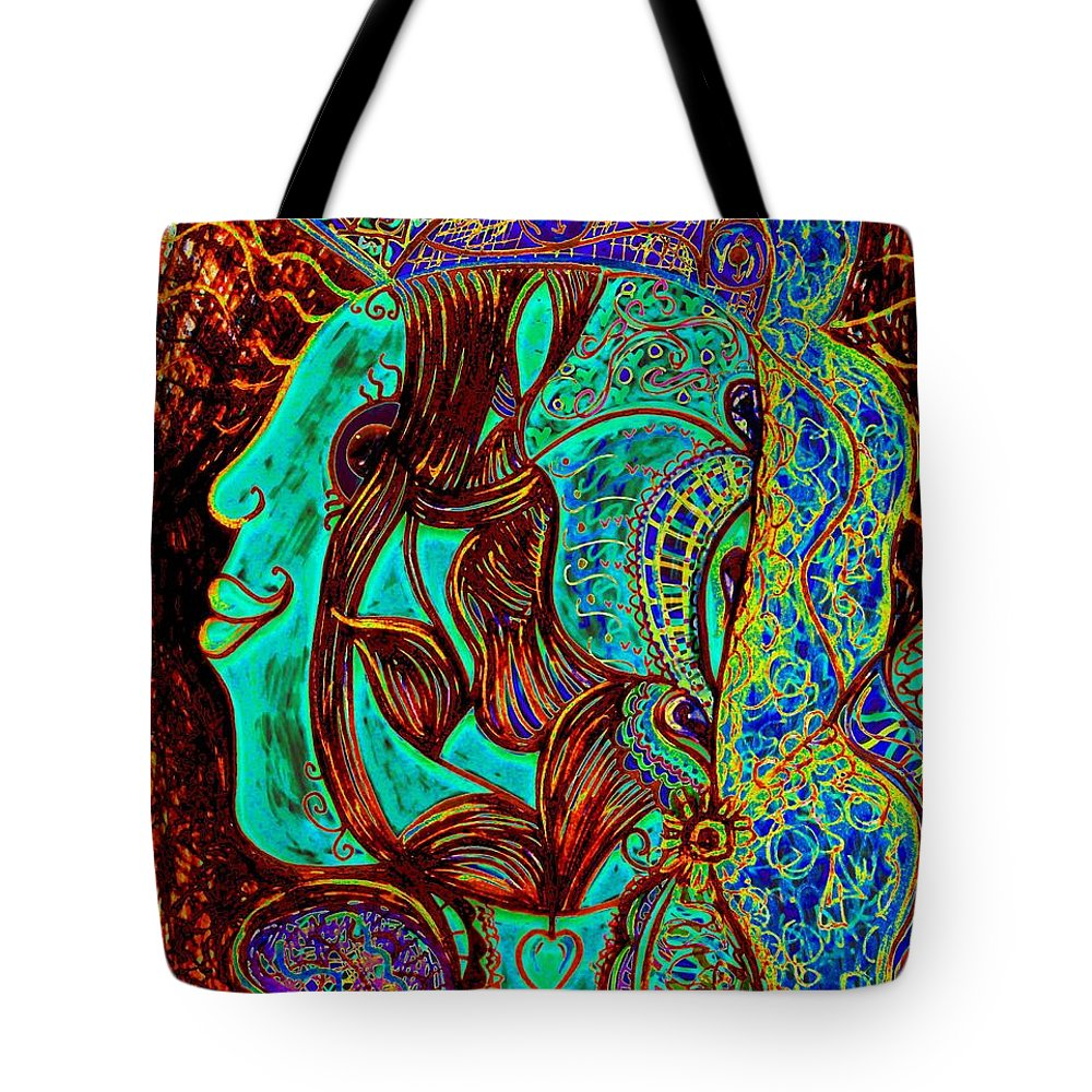 Woman Tote Bag featuring the painting My Gorgeous Cousin by Natalie Holland