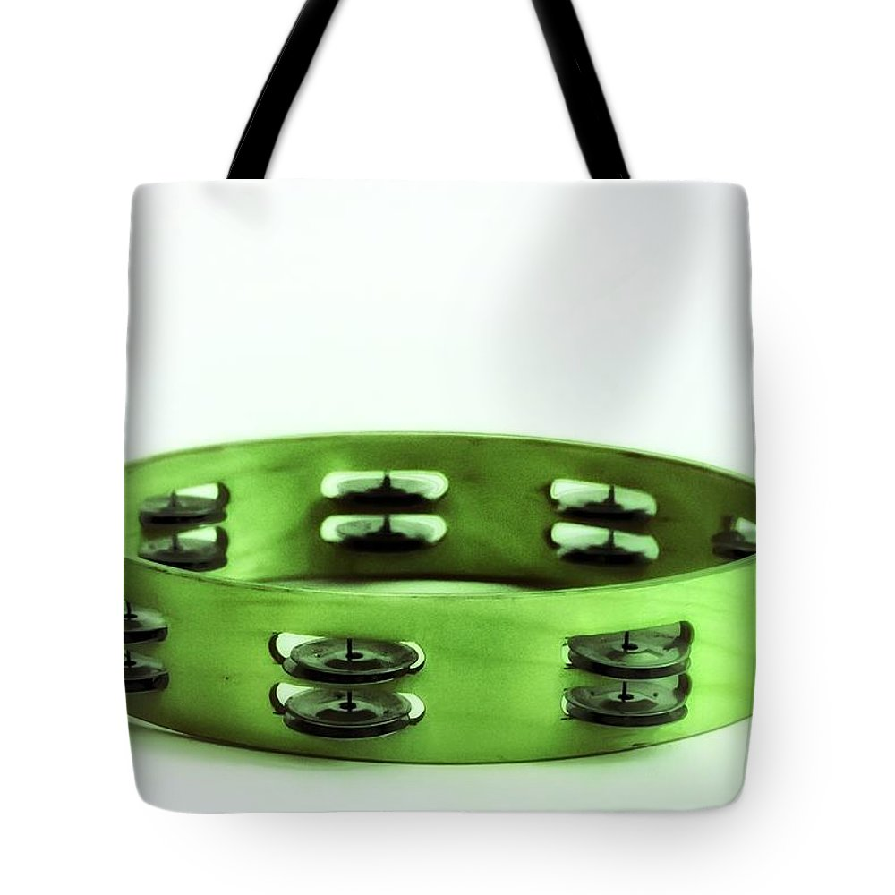 My Green Tambourine Tote Bag featuring the photograph My Green Tambourine by Bill Cannon
