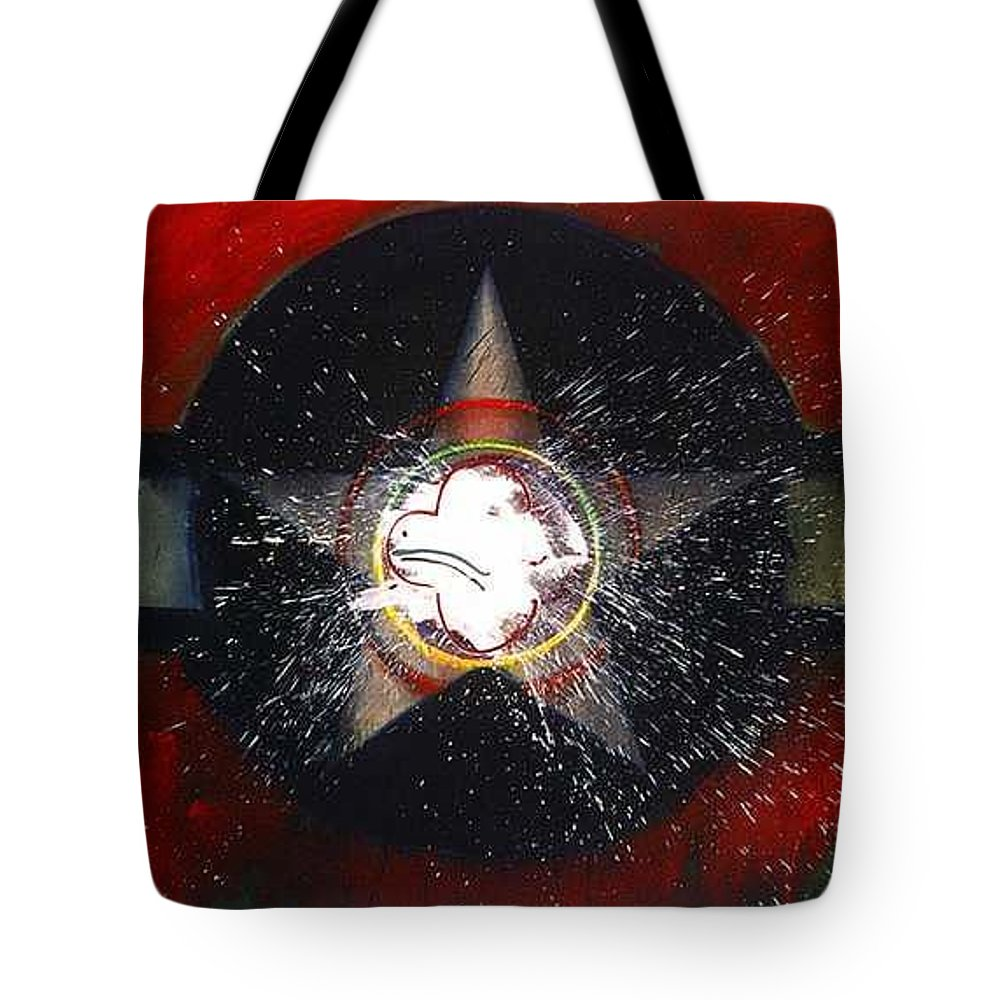 Usaaf Insignia Tote Bag featuring the painting My Indian Red by Charles Stuart
