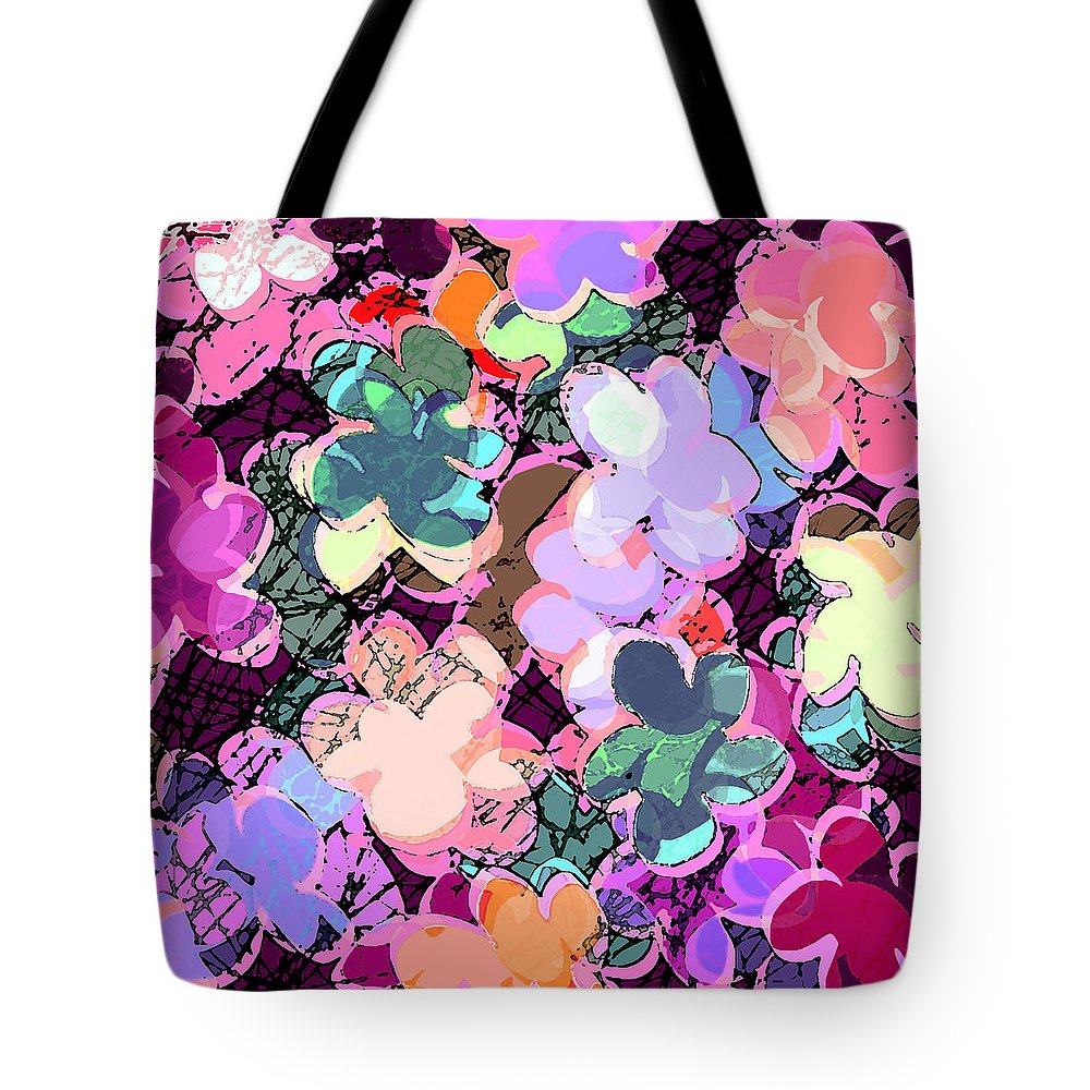 Abstract Tote Bag featuring the digital art My Little World by Rachel Christine Nowicki