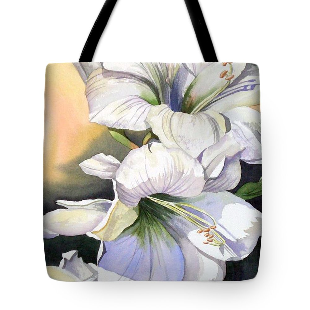 Flower Tote Bag featuring the painting My Love by Tatiana Escobar