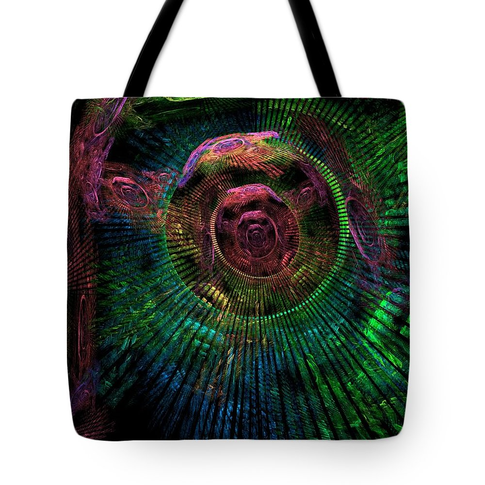 Fractal Tote Bag featuring the digital art My Mind's Eye by Lyle Hatch