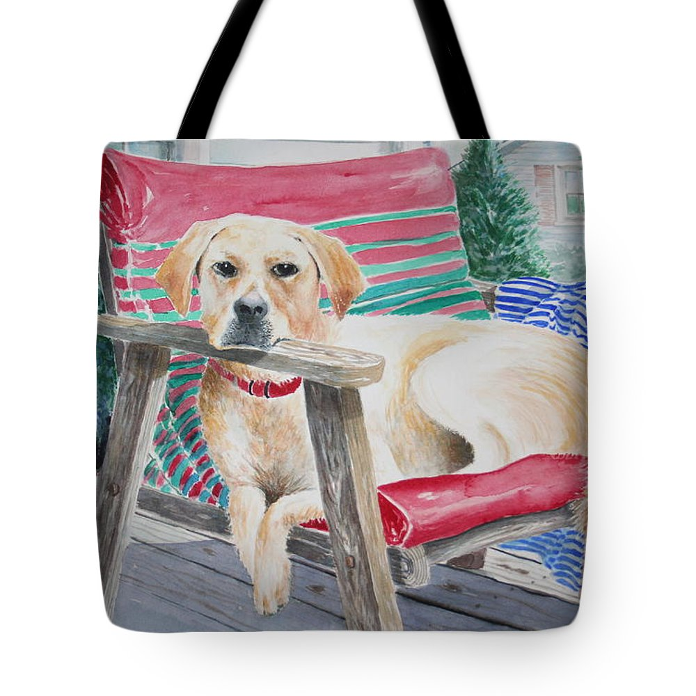 Dogs Tote Bag featuring the painting My Molly by Tom Harris