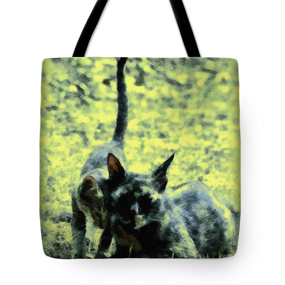 Mother Tote Bag featuring the digital art My Mom by Bliss Of Art