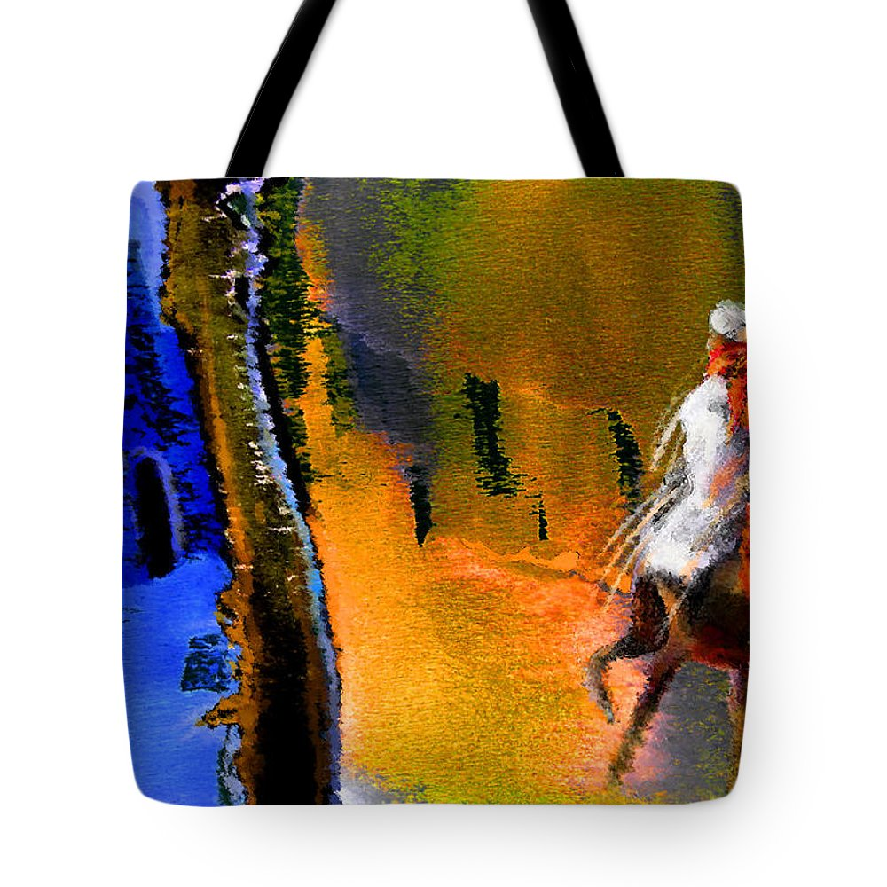 Dream Tote Bag featuring the painting My Oasis by Miki De Goodaboom