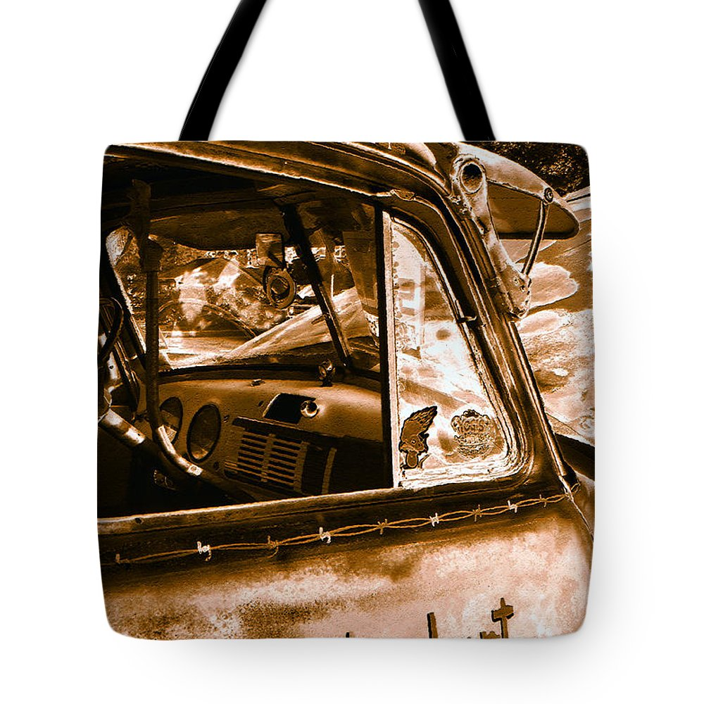 Art Tote Bag featuring the photograph My Old Chevy Truck by David Lee Thompson