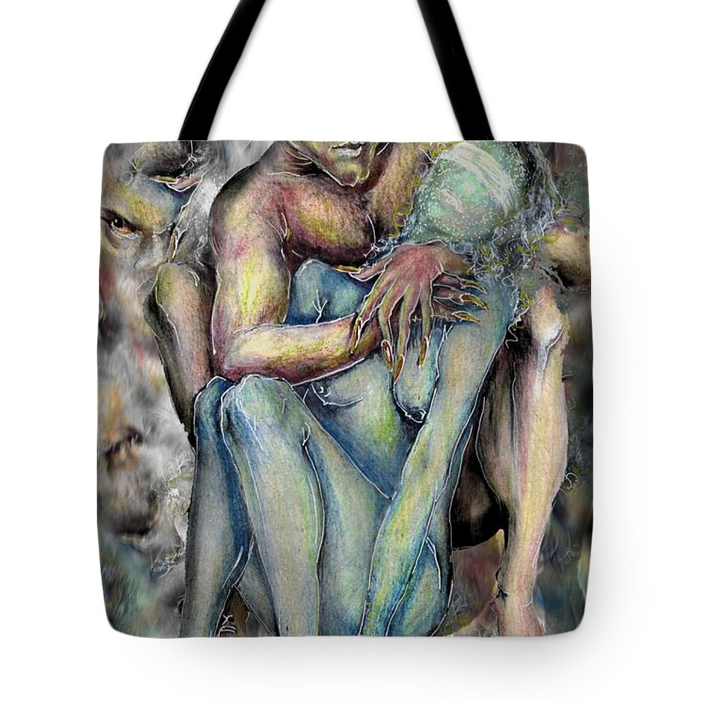 Demons Love Passion Control Posession Woman Lust Tote Bag featuring the mixed media My Precious by Veronica Jackson