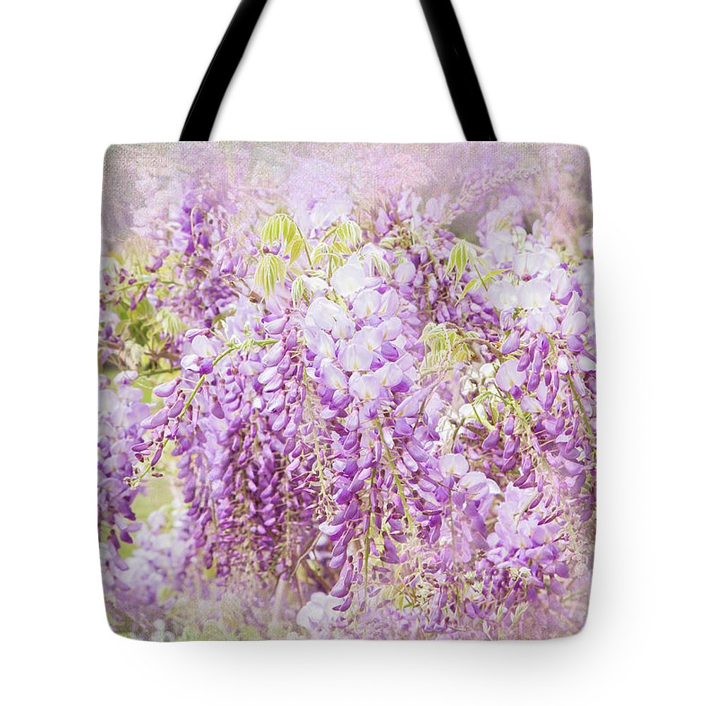 Wisteria Tote Bag featuring the photograph My Romance by Marilyn Cornwell