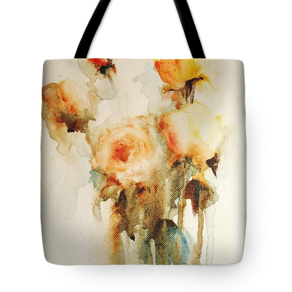 Roses Tote Bag featuring the painting My Roses by Vesna Grundler