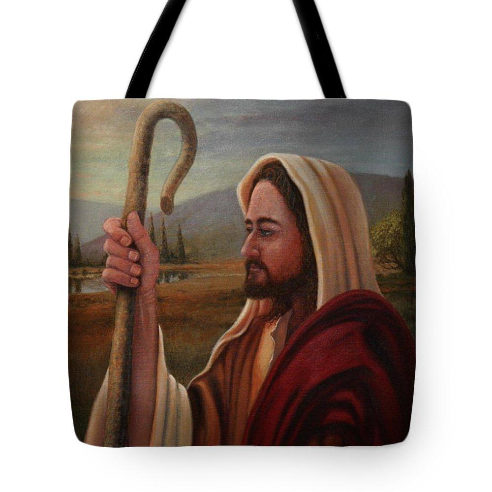 Shepherd Tote Bag featuring the painting My Shepherd by Michael Nowak