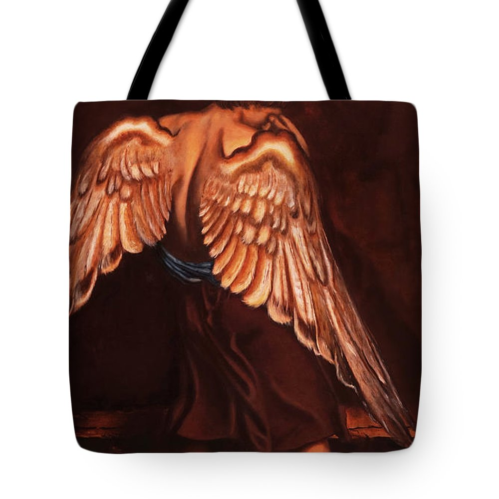 Giorgio Tote Bag featuring the painting My Soul Seeks For What My Heart Lost by Giorgio Tuscani