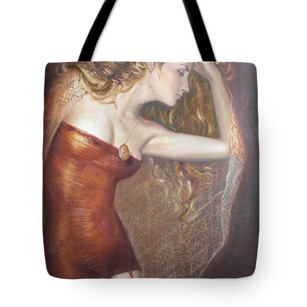 Ignatenko Tote Bag featuring the painting My Talisman by Sergey Ignatenko