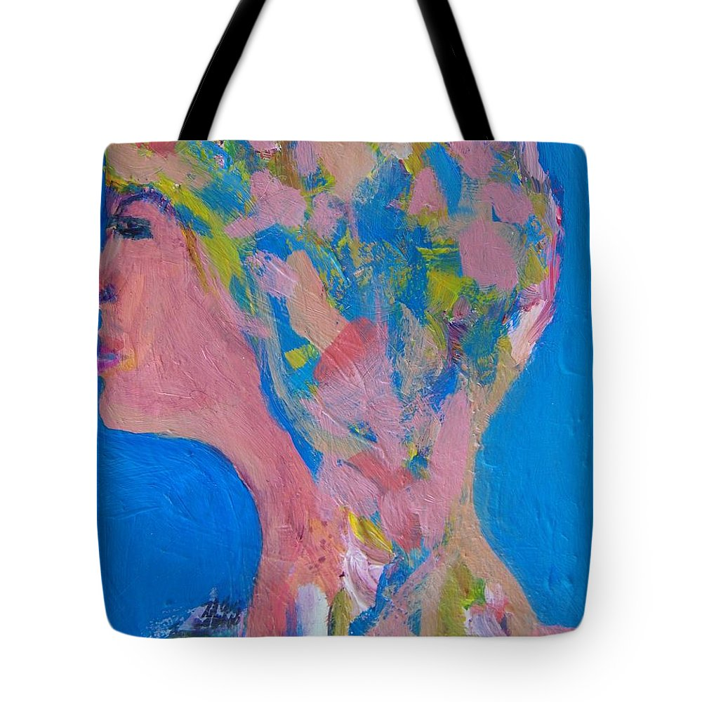 Abstract Tote Bag featuring the painting My Teacher--psychological Child Abuser by Judith Redman
