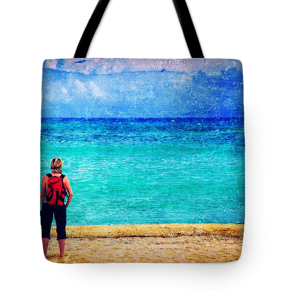 Sea Tote Bag featuring the photograph My Thoughts Are Like Sea Waves by Silvia Ganora