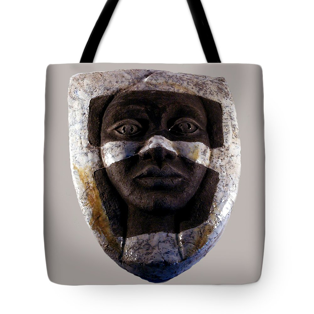 Ceramic Tote Bag featuring the relief My Veils I by Madalena Lobao-Tello