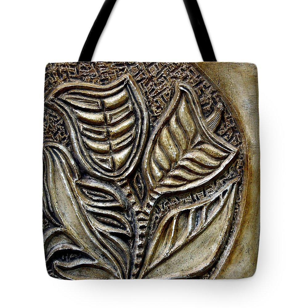 Vintaje Tote Bag featuring the relief Vintaje Tile With Calas by Madalena Lobao-Tello