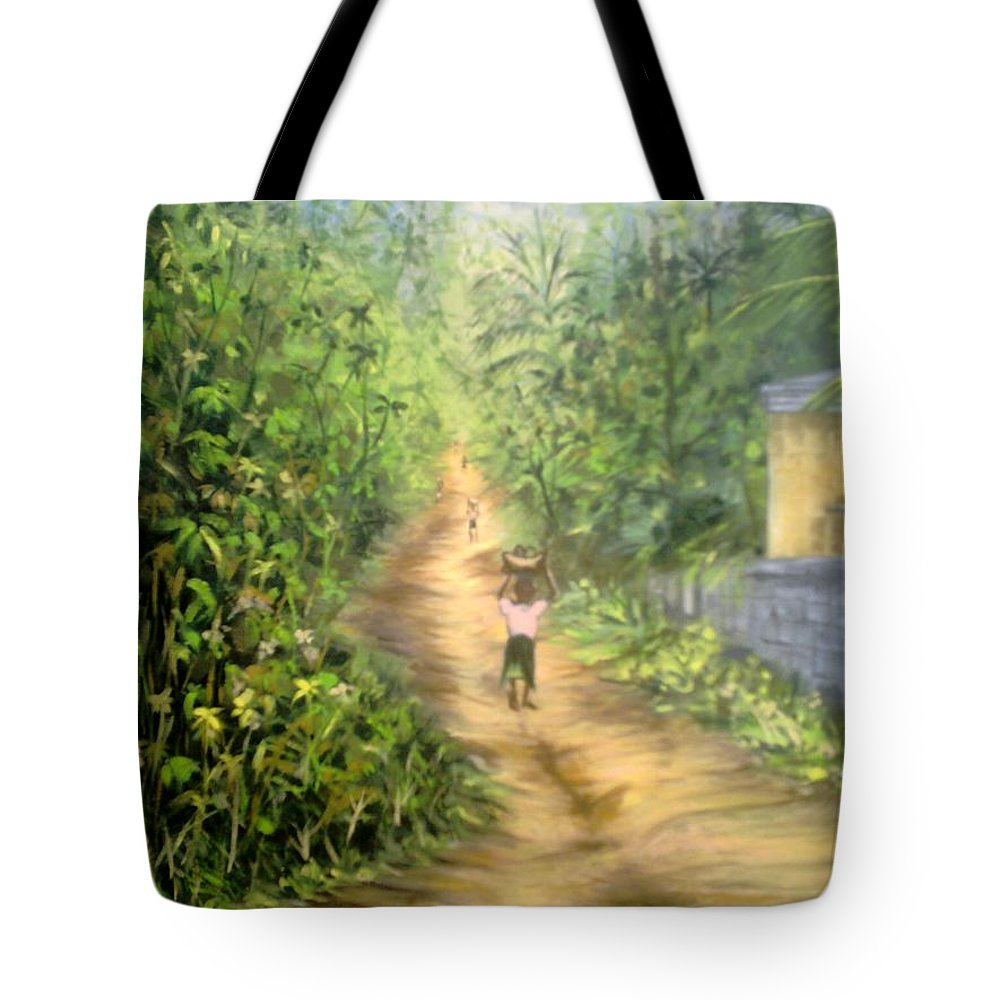 Culture Tote Bag featuring the painting My Village by Olaoluwa Smith