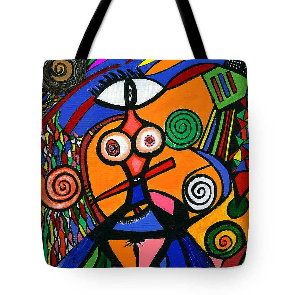Feelings Tote Bag featuring the painting My Woman by Safak Tulga