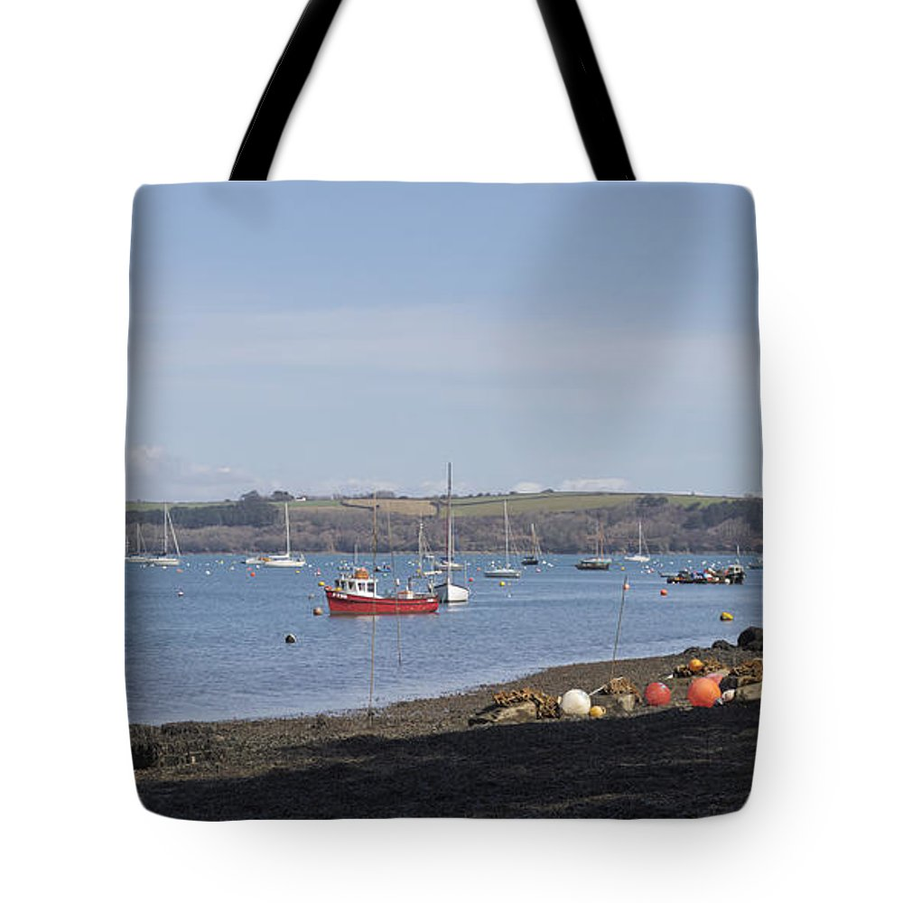 Water Tote Bag featuring the photograph Mylor Creek Panorama by Terri Waters