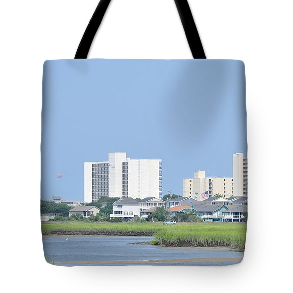 River Tote Bag featuring the photograph Myrtle Beach Hotels by Wayne Marsh
