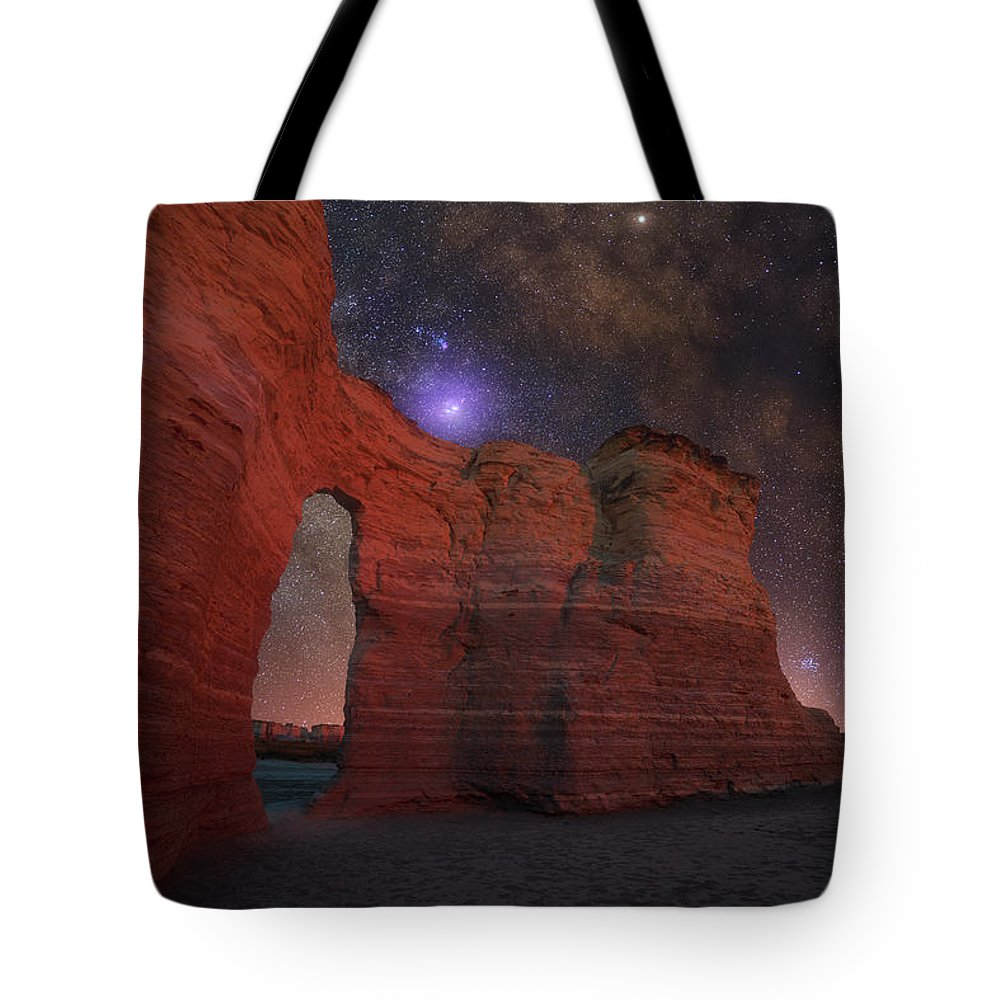 Mystical Tote Bag featuring the photograph Mysteries Of The Niobrara by Darren White