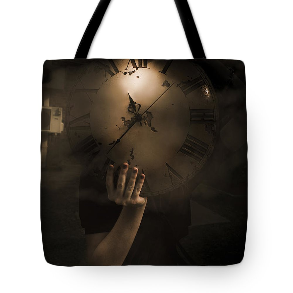 Abstract Tote Bag featuring the photograph Mysteries Of Time by Jorgo Photography - Wall Art Gallery