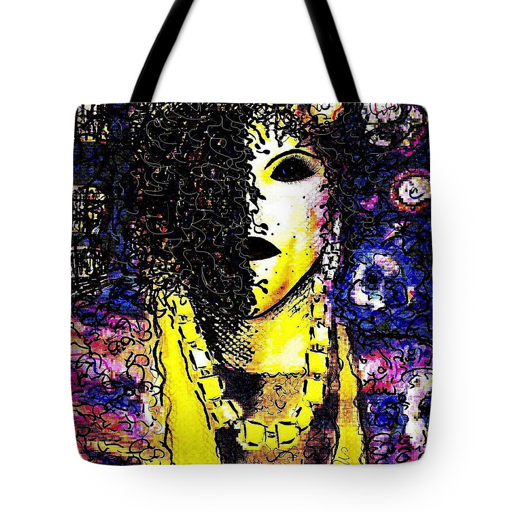 Woman Tote Bag featuring the painting Mysterious Encounter by Natalie Holland
