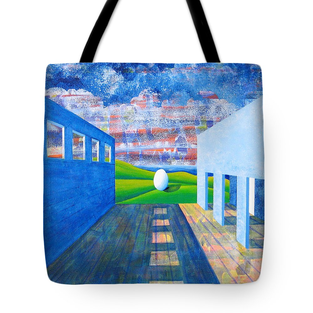 Surrealism Tote Bag featuring the painting Mystery And Memory by Rollin Kocsis