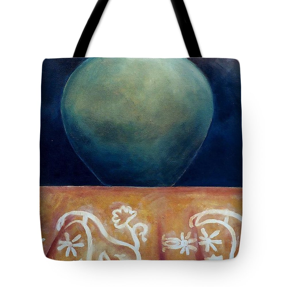 Jar Tote Bag featuring the painting Mystery by Jun Jamosmos