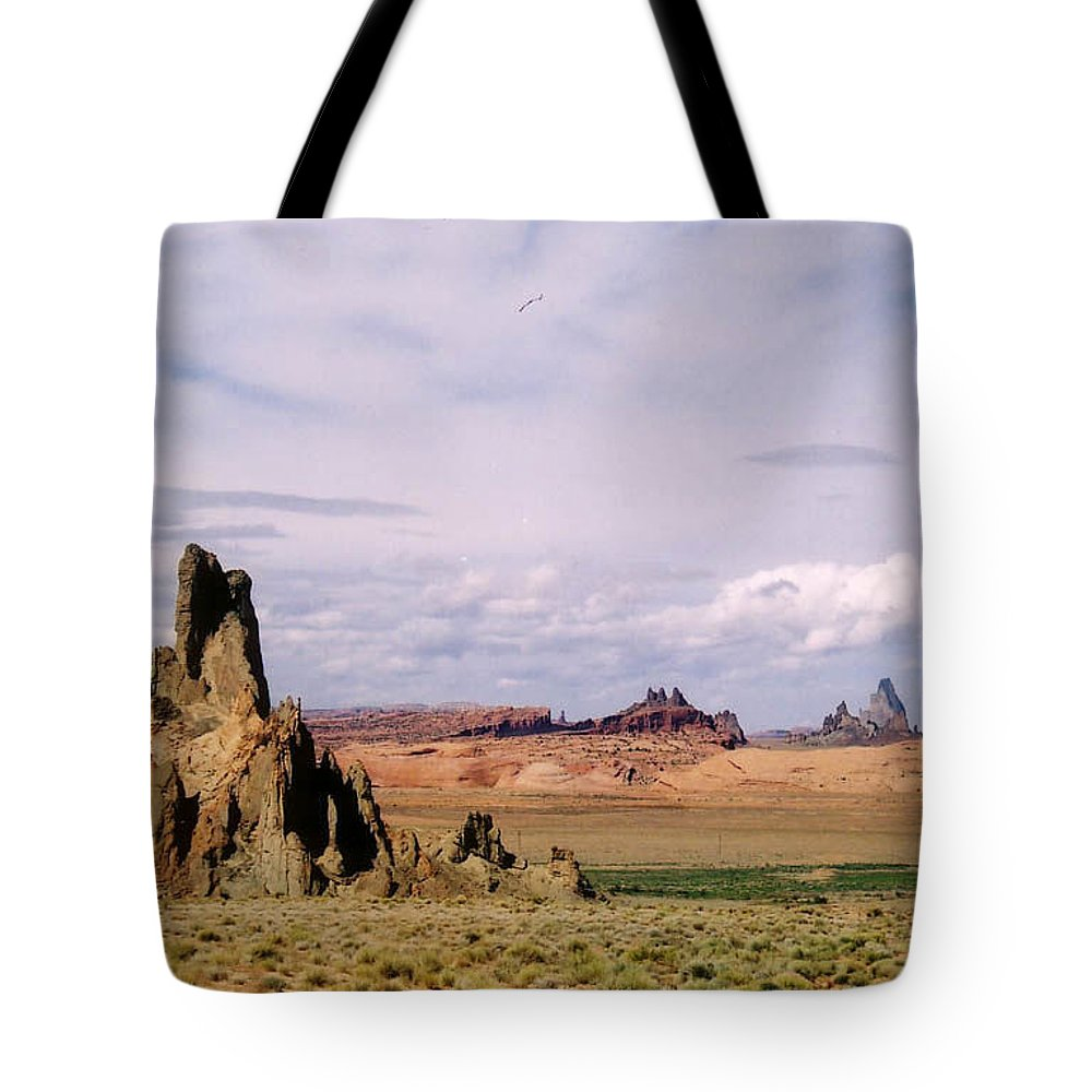 Arizona Tote Bag featuring the photograph Mystery Valley by Cathy Franklin