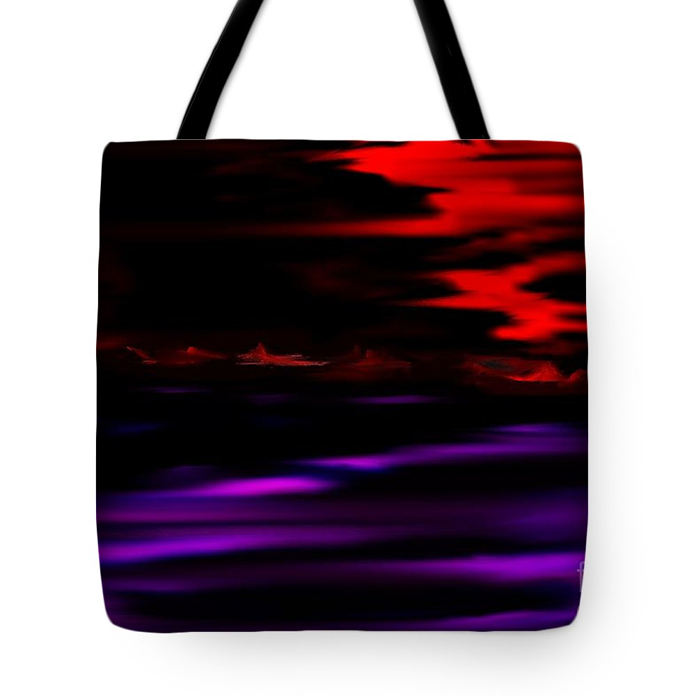 Fantasy Tote Bag featuring the digital art Mystery World by David Lane