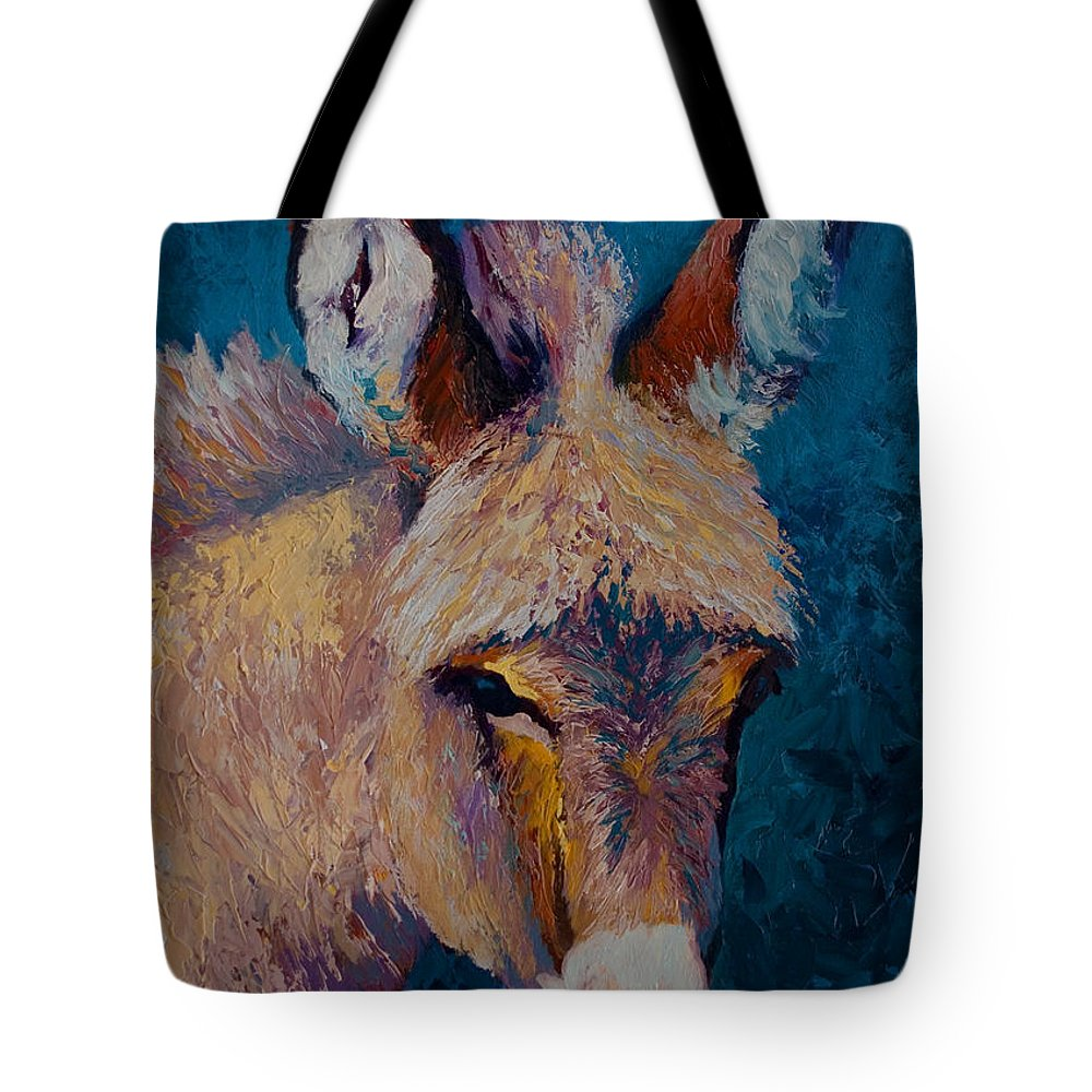 Burro Tote Bag featuring the painting Mystic by Marion Rose