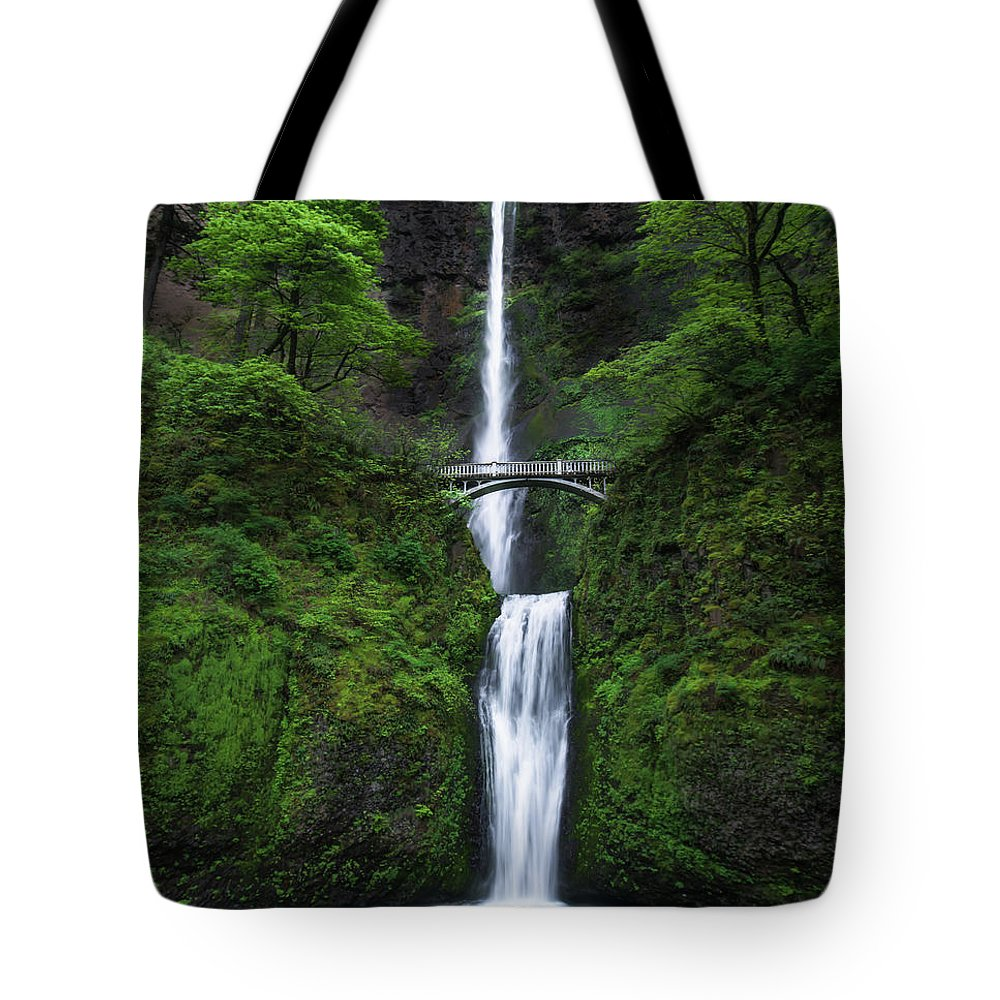 National Park Tote Bag featuring the photograph Mystic Falls by Larry Marshall