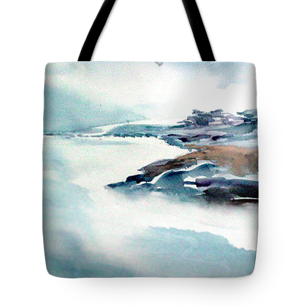 River Tote Bag featuring the painting Mystic River by Anil Nene