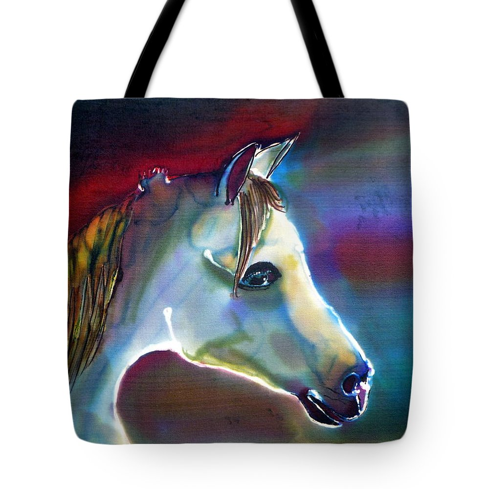 Horse Tote Bag featuring the painting Mystical by Beverly Johnson