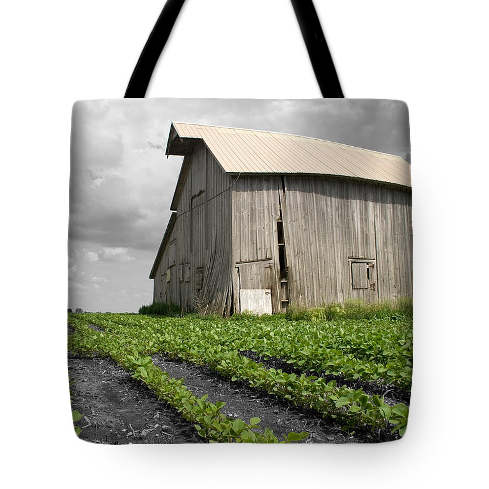 Landscape Tote Bag featuring the photograph N 1650 East by Dylan Punke