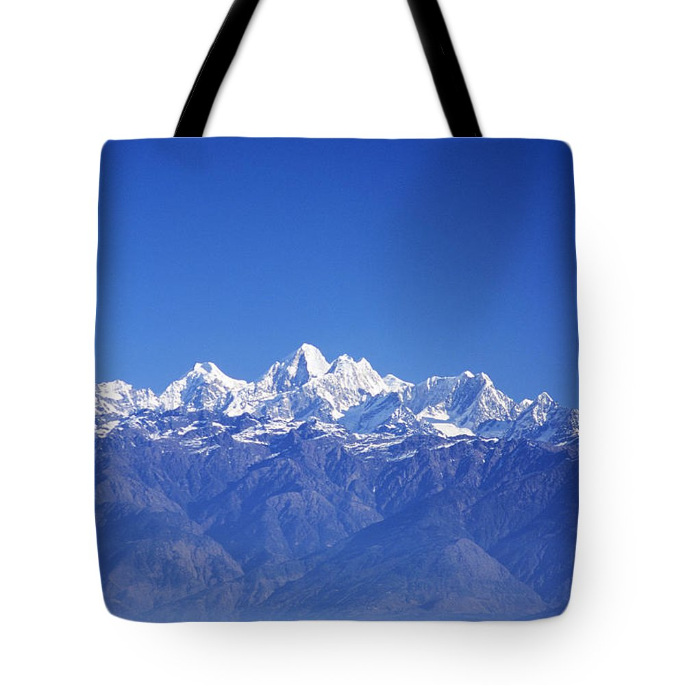 Air Art Tote Bag featuring the photograph Nagarkot View by Gloria & Richard Maschmeyer - Printscapes